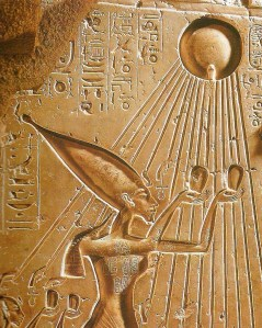 Akhenaten and sun disc